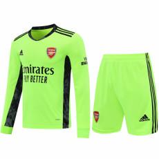 20-21 ARS Green GoalKeeper Long sleeve Soccer Jersey(Full Sets )
