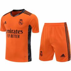 20-21 RMA Orange Goalkeeper Soccer Jersey(Full Sets)
