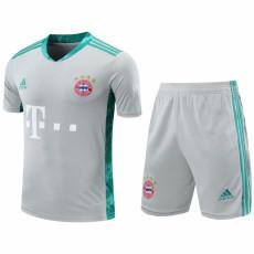 20-21 Bayern Grey Goalkeeper Soccer Jersey(Full Sets)