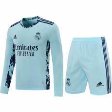 20-21 RMA Home Goalkeeper Long Sleeve Soccer Jersey (Full Sets )