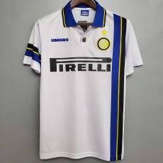 1997-1998 INT Away White Retro Soccer Jersey