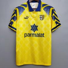 1995-1997 Parma Yellow  Retro Soccer Jersey