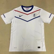 2010 Netherlands Away White Retro Soccer Jersey