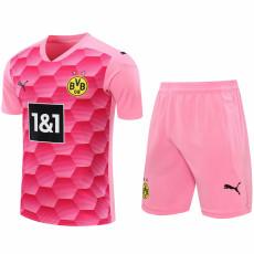 20-21 Dortmund Pink Goalkeeper Soccer Jersey(Full Sets)