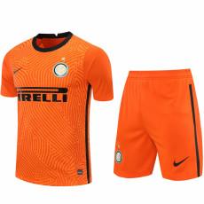 20-21 INT Orange Goalkeeper Soccer Jersey(Full Sets)