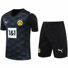 20-21 Dortmund Black Goalkeeper Soccer Jersey(Full Sets)