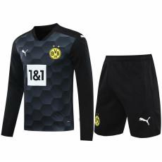 20-21 Dortmund Black Goalkeeper Long Sleeve Soccer Jersey