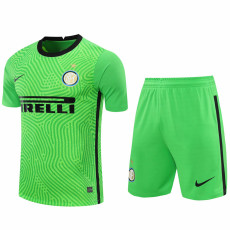 20-21 INT Green Goalkeeper Soccer Jersey(Full Sets)