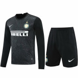 20-21 INT Black Goalkeeper Long Sleeve Soccer Jersey (Full Sets )