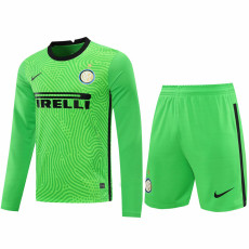 20-21 INT Green Goalkeeper Long Sleeve Soccer Jersey (Full Sets )