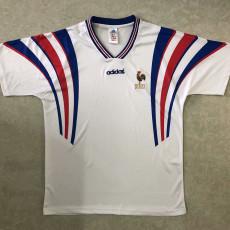 1996 France Away White Retro Soccer Jersey