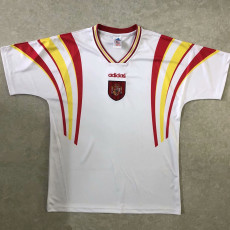 1996 Spain Away White Retro Soccer Jersey