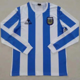 1986 Argentina Home Long Sleeve Retro Soccer Jersey