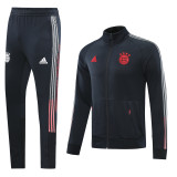 20-21 Bayern Black Jacket Tracksuit (长裤带字)
