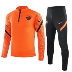 20-21 Roma Orange Half Pull Sweater Tracksuit