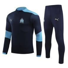 20-21 Marseille Royal Blue Half Pull Sweater Tracksuit