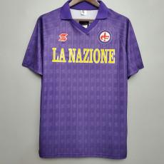 1989-1990 Fiorentina Home Retro Soccer Jersey