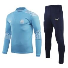 20-21 Marseille Light Blue Half Pull Sweater Tracksuit