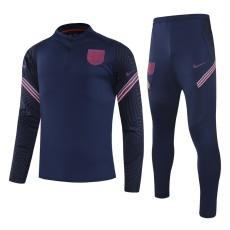 20-21 England Dark Blue Half Pull Sweater Tracksuit