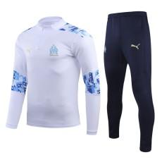 20-21 Marseille White Half Pull Sweater Tracksuit