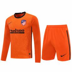 20-21 ATM Orange Goalkeeper Long Sleeve Soccer Jersey (Full Sets )