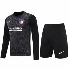 20-21 ATM Black Goalkeeper Long Sleeve Soccer Jersey (Full Sets )