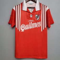 1995-1996 River Plate Away Red Retro Soccer Jersey
