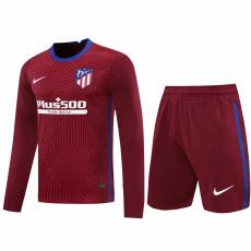 20-21 ATM Red Goalkeeper Long Sleeve Soccer Jersey (Full Sets )