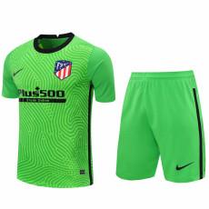 20-21 ATM Green Goalkeeper Soccer Jersey(Full Sets)