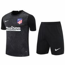 20-21 ATM Black Goalkeeper Soccer Jersey(Full Sets)