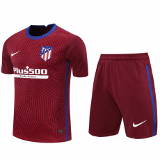 20-21 ATM Red Goalkeeper Soccer Jersey(Full Sets)