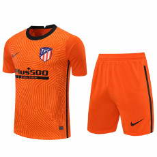20-21 ATM Orange Goalkeeper Soccer Jersey(Full Sets)