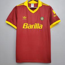 1991-1992 Roma Home Retro Soccer Jersey