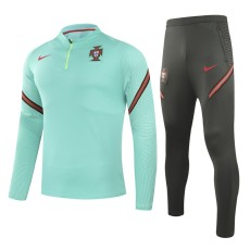 20-21 Portugal Green Half Pull Sweater Tracksuit
