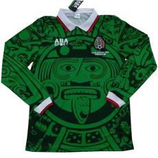 1998 Mexico Home Long Sleeve Retro Soccer Jersey