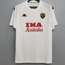 2000-2001 Roma Away White Retro Soccer Jersey