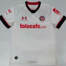 20-21 Toluca Away White Fans Soccer Jersey