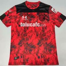 20-21 Toluca Home Red Fans Soccer Jersey