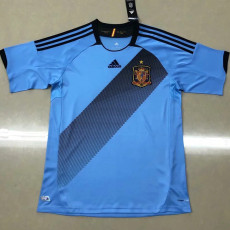 2012 Spain Away Blue Retro Soccer Jersey