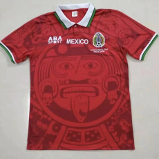 1998 Mexico Away Red Retro Soccer Jersey
