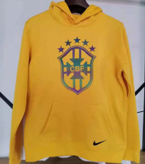 2021 Brazil Original Quality Yellow Hoody