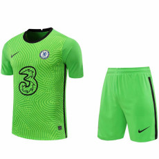 20-21 CHE Green GoalKeeper Soccer Jersey(Full Sets )
