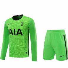 20-21 TOT Green GoalKeeper Long sleeve Soccer Jersey(Full Sets )