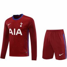 20-21 TOT Red GoalKeeper Long sleeve Soccer Jersey(Full Sets )