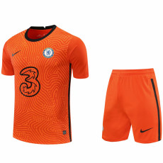 20-21 CHE Orange GoalKeeper Soccer Jersey(Full Sets )