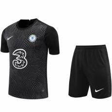 20-21 CHE Black GoalKeeper Soccer Jersey(Full Sets )