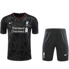 2021 LIV Special Version Black Soccer Jersey(Full Sets)