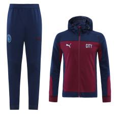2021 Man City Purple Hoodie Jacket Tracksuit