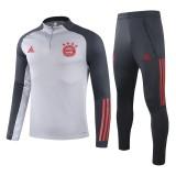2021 Bayern Grey Half Pull Sweater Tracksuit