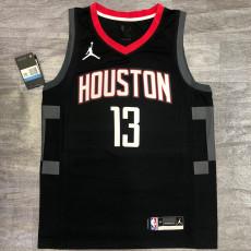 New Rockets Jordan Harden #13 Theme Limited City Edition Black Top Quality Hot Pressing NBA Jersey